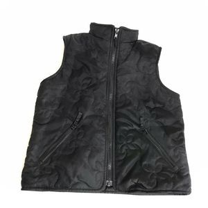 Hanna Anderson Black Puffer Vest Quilted